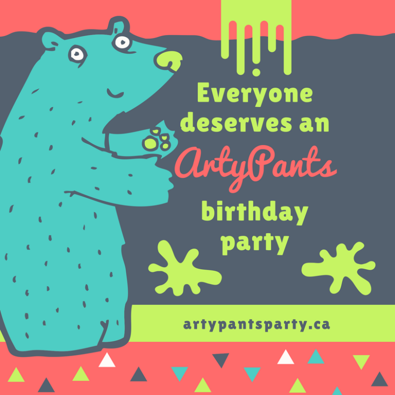 Book your party with ArtyPants
